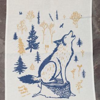 Wolf Tea Towel